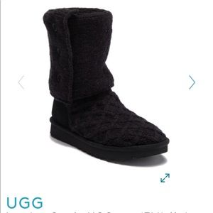 UGG lattice cardy black boots
